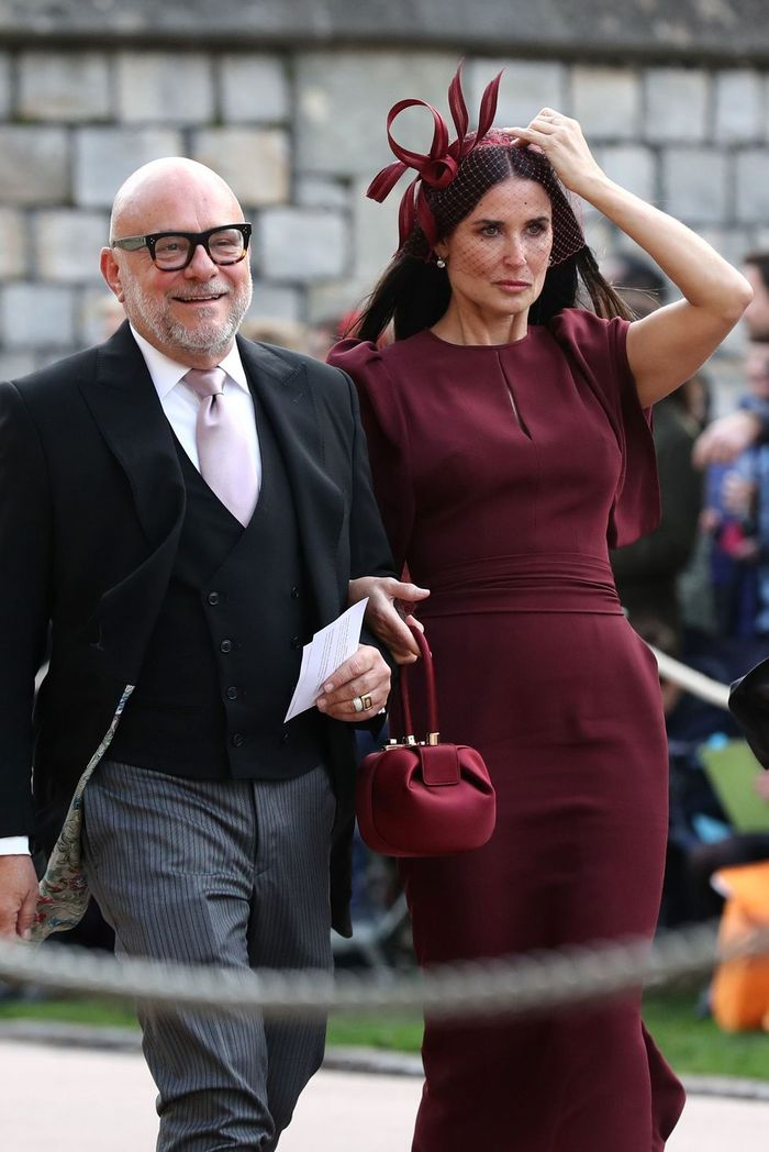 Demi Moore di royal wedding Putri Eugenie