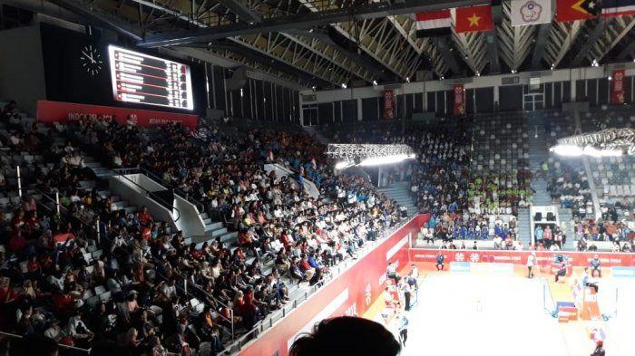 Suasana Istora Senayan tempat penyelenggaraan Asian Para Games 2018 cabang olahraga Badminton di kawadan Gelora Bung Karno (GBK) Senayan, Jakarta Pusat, Kamis (11/10/2018).