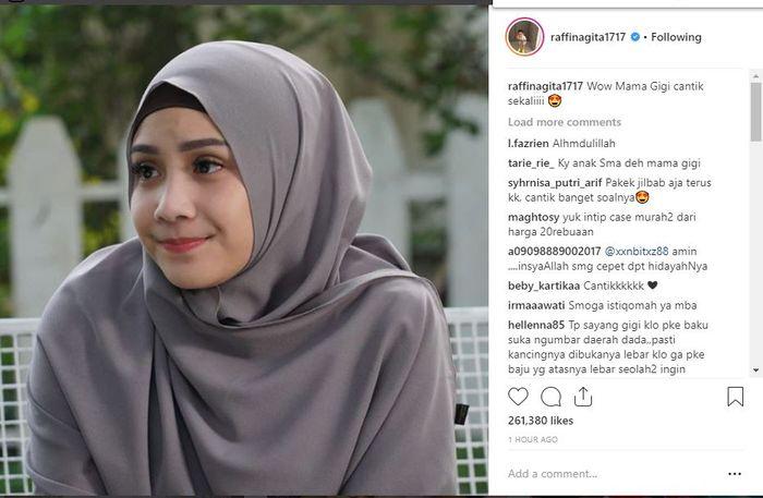Nagita Slavina pakai hijab syar'i.