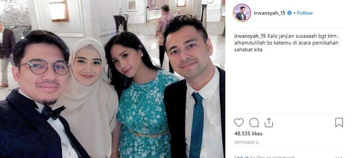 keluarga Raffi Ahmad dan Irwansyah berteman