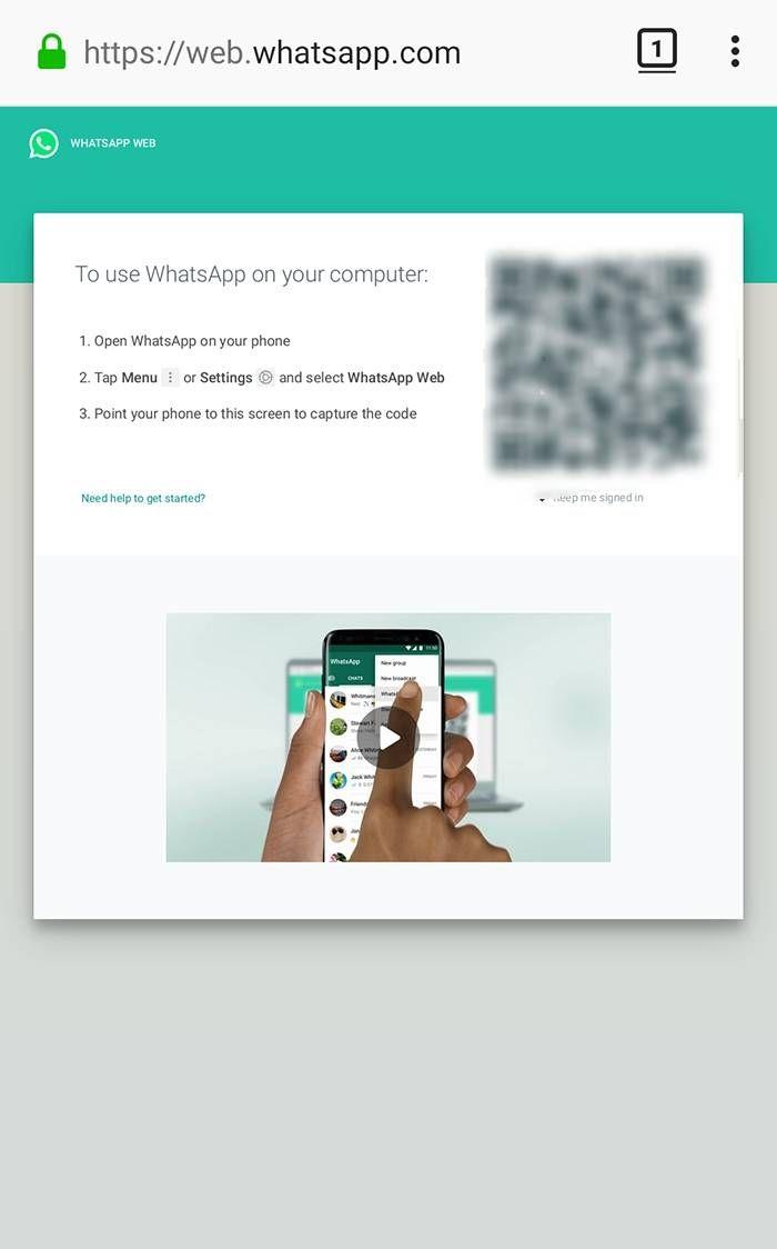 Scan Whastapp Web dari Mozilla