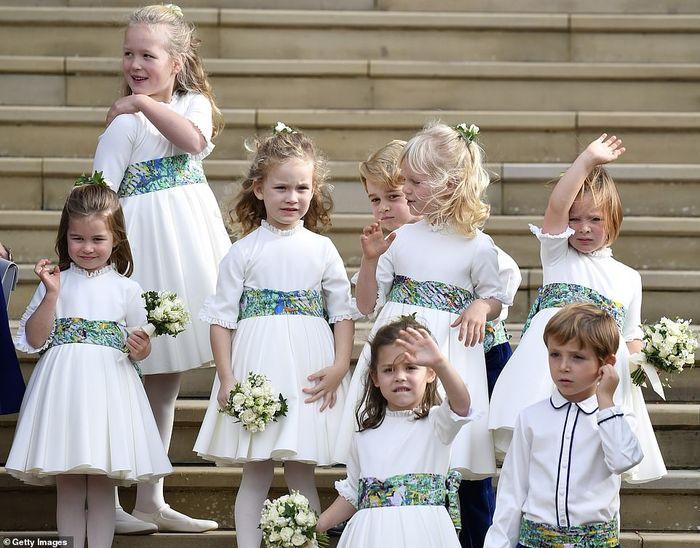 Pengiring pengantin putri Eugenie dan Jack Brooksbank