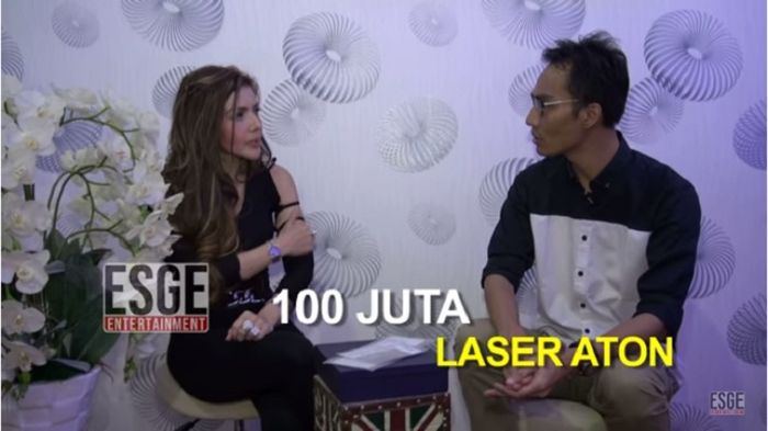 Perawatan laser atom seharga 100 juta untuk membakar lemak Barbie Kumalasari