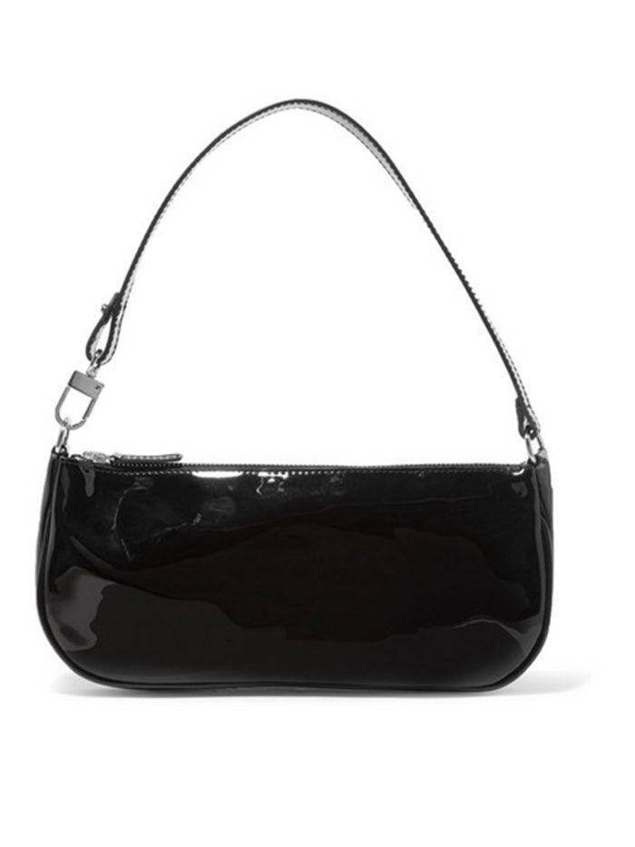 Rachel Pattent-Leather Shoulder Bag $365 Atau Sekitar Rp. 5.110.000
