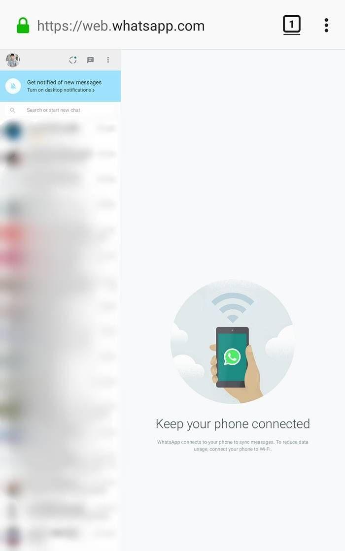 Whatsapp yang Sudah Tersambung