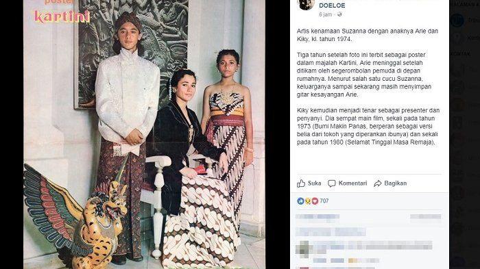 Unggahan akun grup Facebook Indonesia Tempo Doeloe