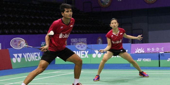Pasangan ganda campuran Indonesia, Ricky Karanda Suwardi/Debby Susanto, tampil pada babak kedua Indi