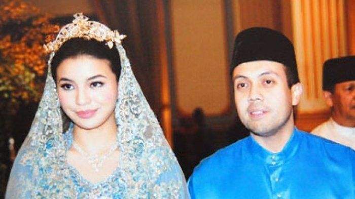 Manohara Odelia Pinot saat menikah dengan pangeran Kelantan