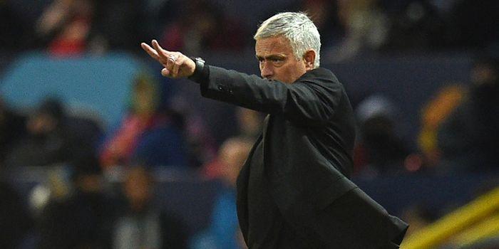 Ekspresi pelatih Manchester United, Jose Mourinho, dalam laga Grup H Liga Champions melawan Juventus