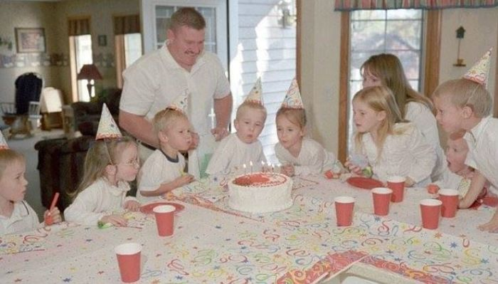 bayi kembar tujuh berulang tahun bersama