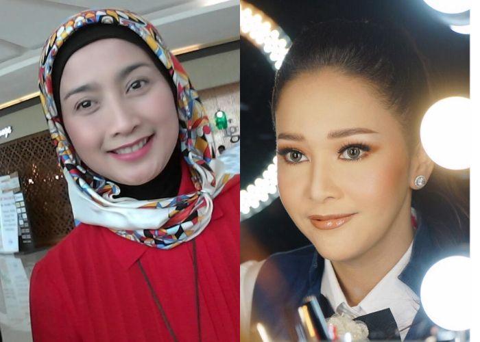 Desy Ratnasari (kiri) dan Maia Estianty (kanan)