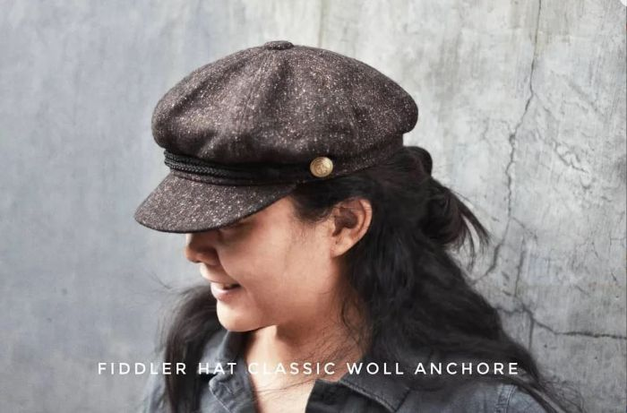 Fiddler Hat Classic Anchor Misty Brown