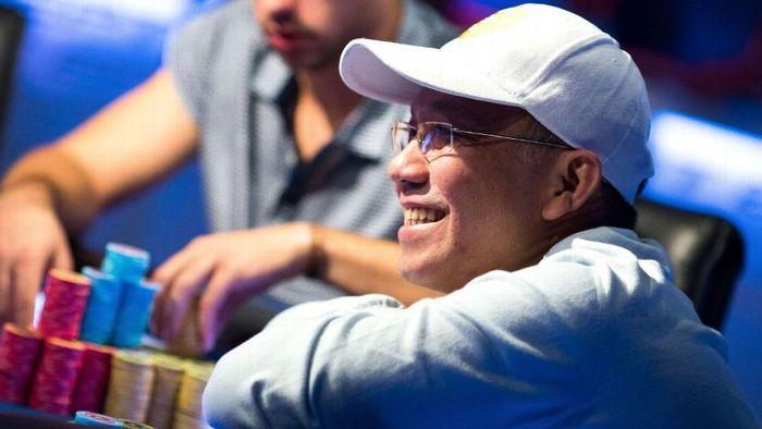 wajah Paul Phua ketika dalam sebuah pertandingan judi
