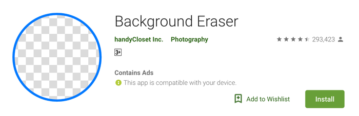 Aplikasi Background Eraser