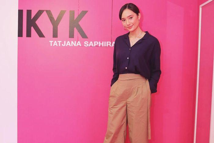 Tatjana Saphira Saat Ditemui Dinda Stylo.ID di Acara Launching IKYK x Tatjana Saphira