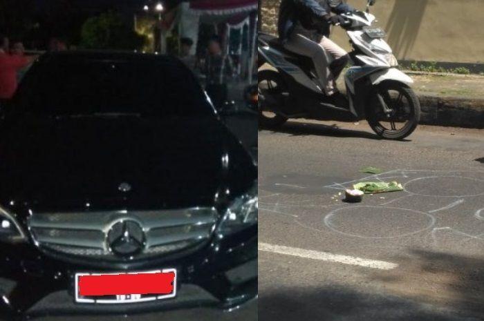 Mobil Mercy dan lokasi kejadian penabrakan