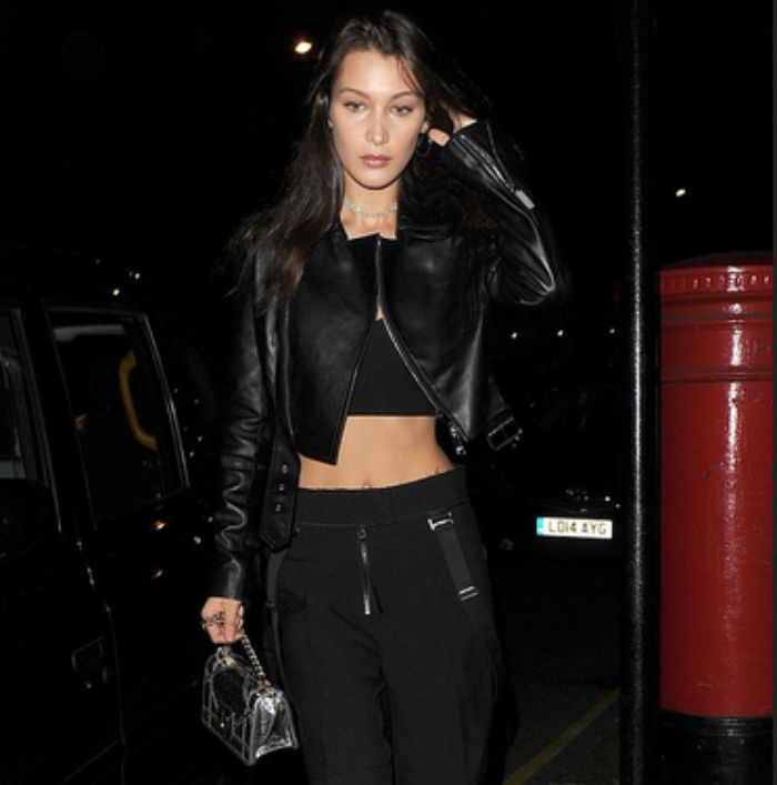 Rock chic ala Bella Hadid