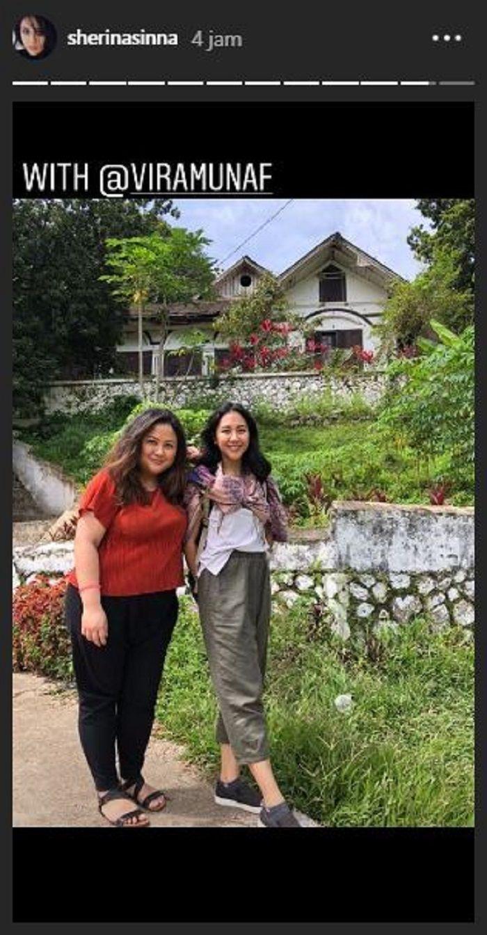 Sherina Munaf dan sang kakak, Vira Munaf saat ke Minangkabau