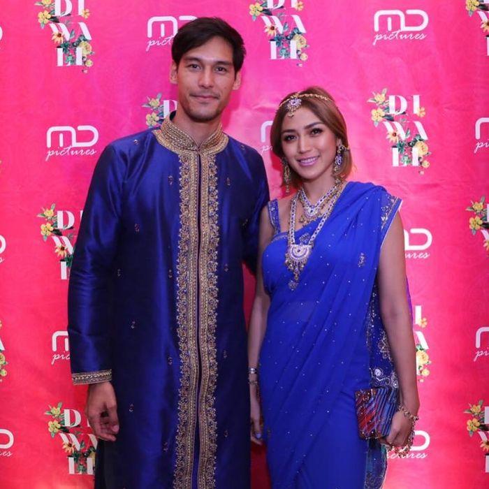 Penampilan Jessica Iskandar dan Richard Kyle saat hadir di perayaan Diwali