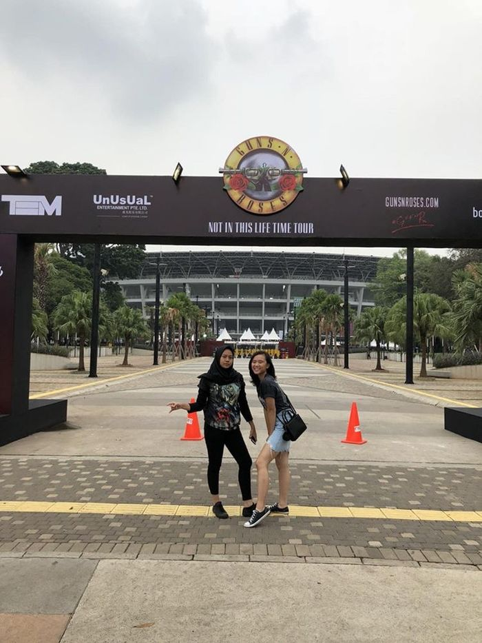 Pelajar SMA yang nonton GnR di Jakarta