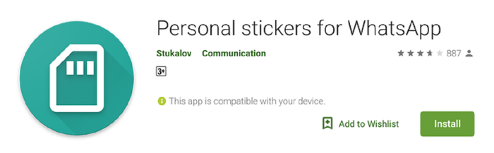 Ilustrasi : Personal stickers for whatsapp