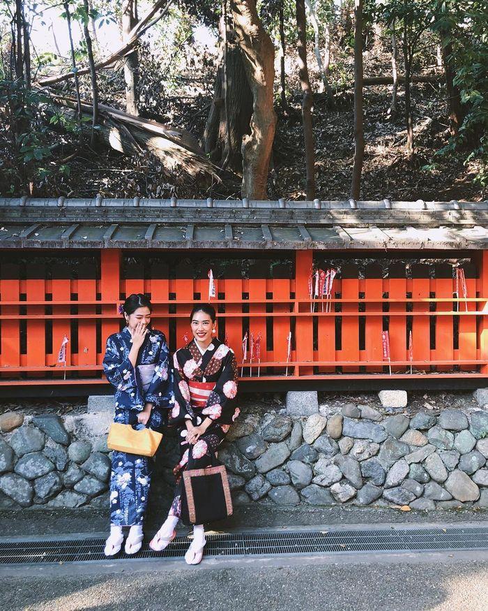 Alika Islamadina kenakan Kimono
