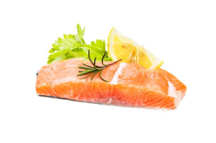 Bahan makanan agar rambut cepat panjang: salmon