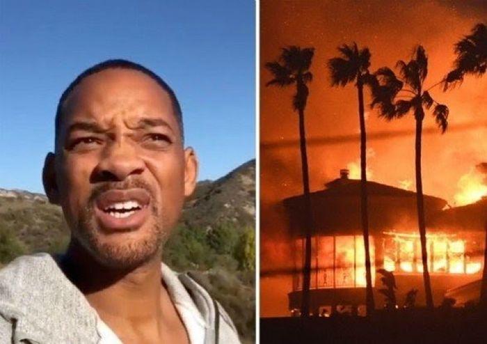 Api berjarak 12 km dari rumah Will Smith