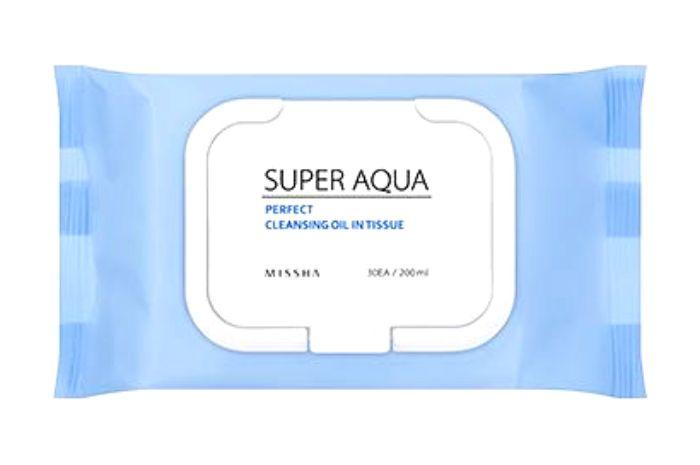 Missha Super Aqua All In One Cleansing Oil In Tissue