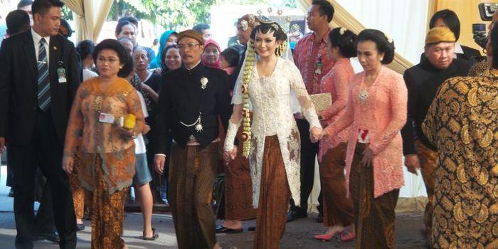 Selvi Ananda di hari pernikahannya dengan Gibran Rakabuming Raka.