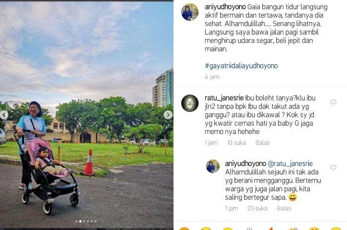 Salah satu netizen bertanya mengenai Ani Yudhoyono yang kerap jalan-jalan sendiri