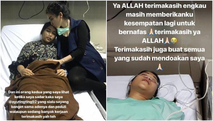 Syifa adik Ayu Ting Ting ketika sedang jatuh sakit