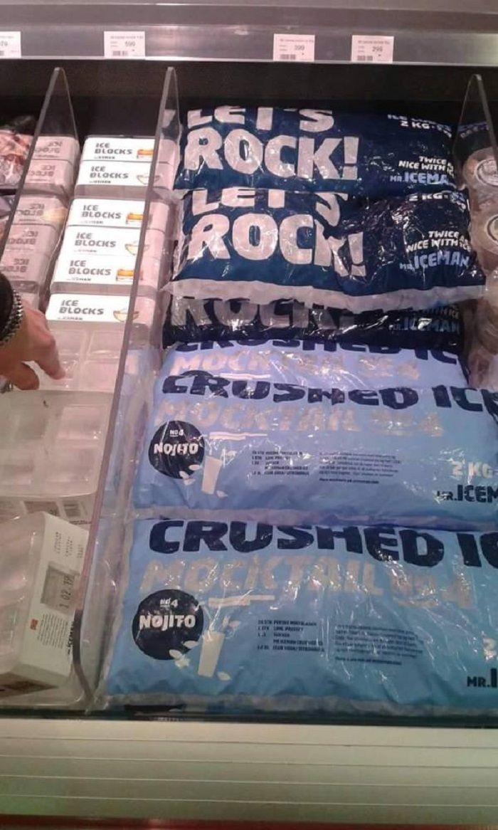 Es batu yang diimpor Islandia