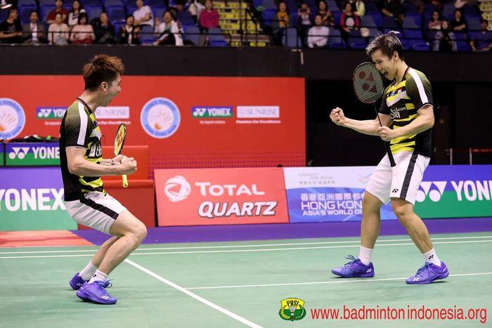 Kevin Sanjaya/Marcus Gideon menang di Hong Kong Open 2018 (Instagram/badminton.ina)