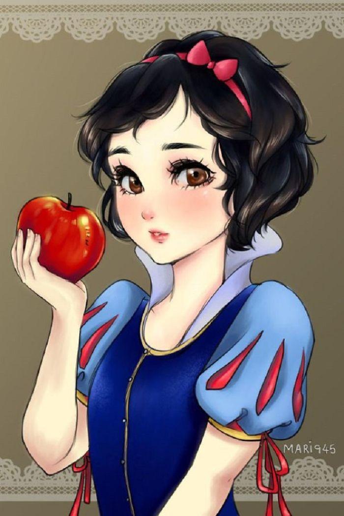 Snow White, Princess Disney jadi Anime
