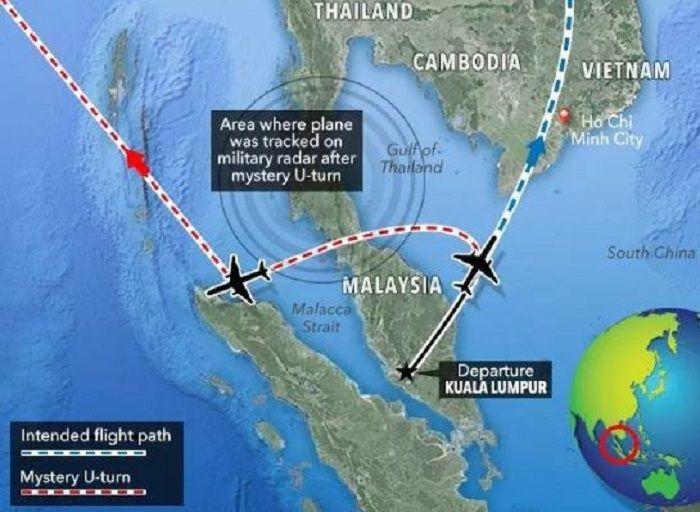 Malaysia Airlines Flight MH370 lepas landas dari Kuala Lumpur dan menuju ke Beijing.