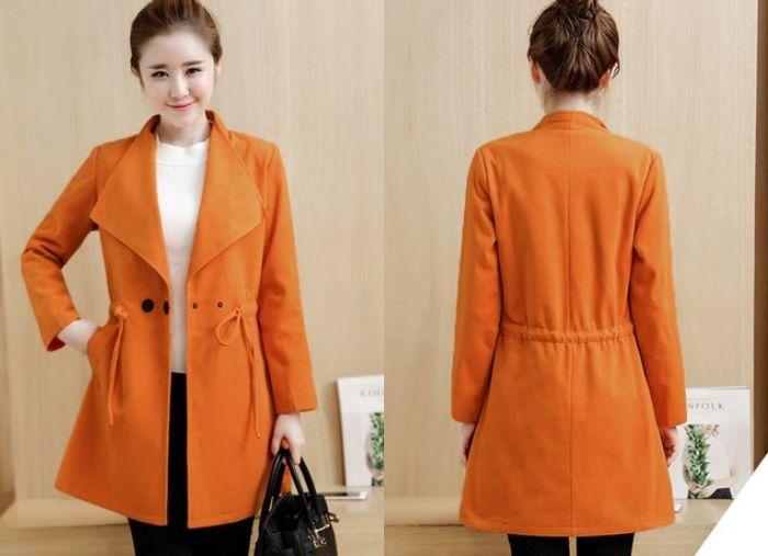Women Winter Woolen Coat Long - Sleeved Overcoats