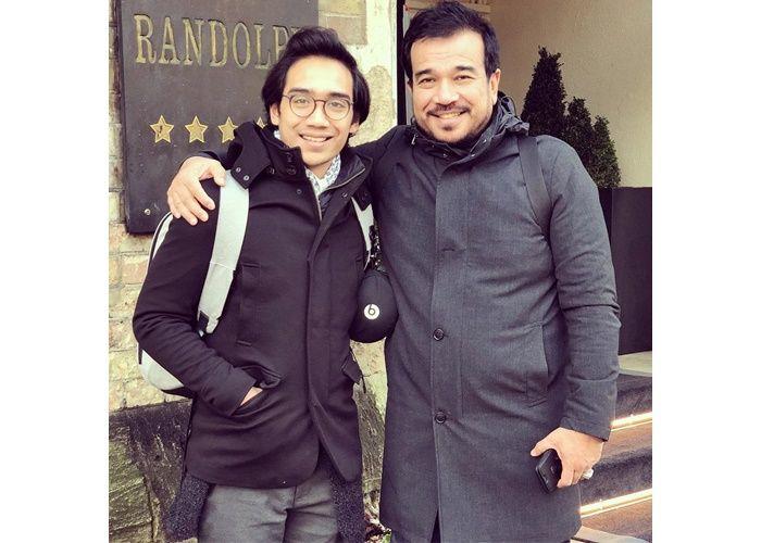 Muhammad Aazief bersama sang ayah