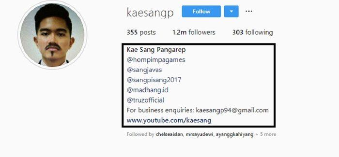 Instagram @kaesangp