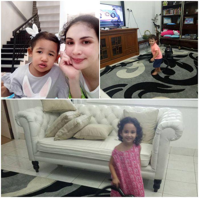 Ruang TV di rumah Arumi Bachsin