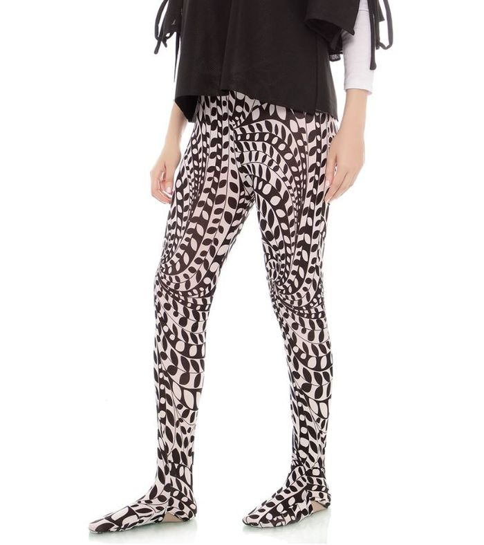 Mybamus Legging Wudhu Motif Alica Black & White