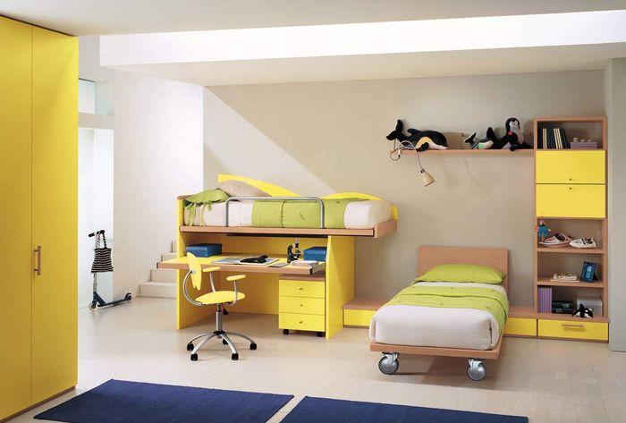 kamar anak warna kuning