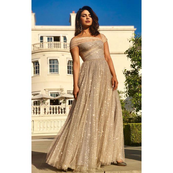 Priyanka Chopra tampil stunning dengan dress A-line