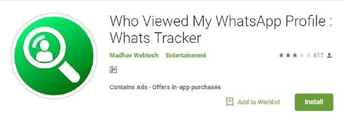 Aplikasi Who Viewed My WhatsApp Profile : Whats Tracker