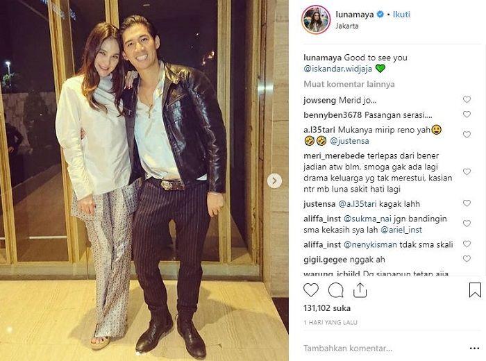 Luna Maya unggah foto bersama pemain bola