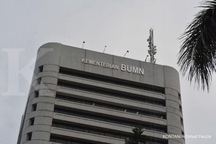 Kantor Kementerian Badan Usaha Milik Negara (BUMN) di Merdeka selatan Jakarta pusat (27/1/2015).KONTAN/ Achmad Fauzie