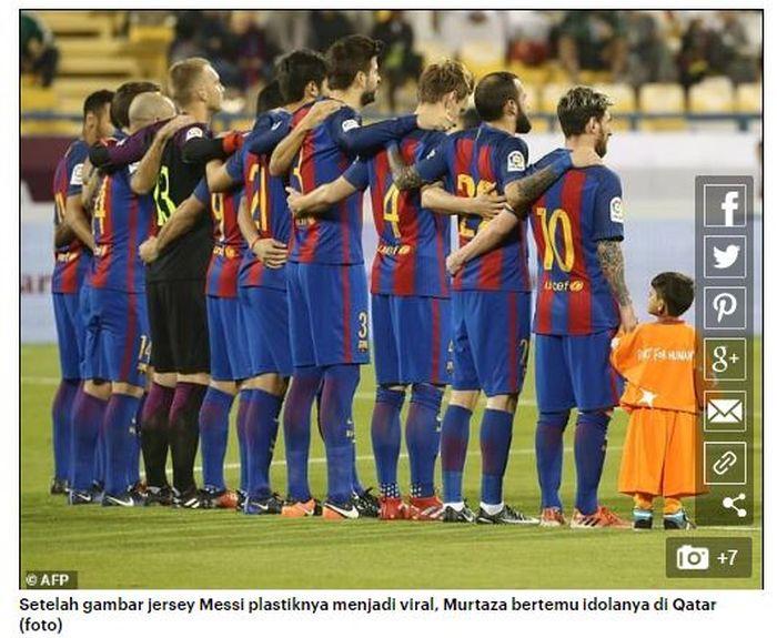 Tim Barcelona bersama dengan Murtaza Ahmadi