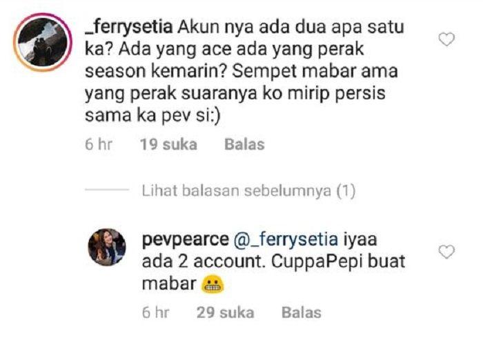 Nama akun PUBG Pevita Pearce