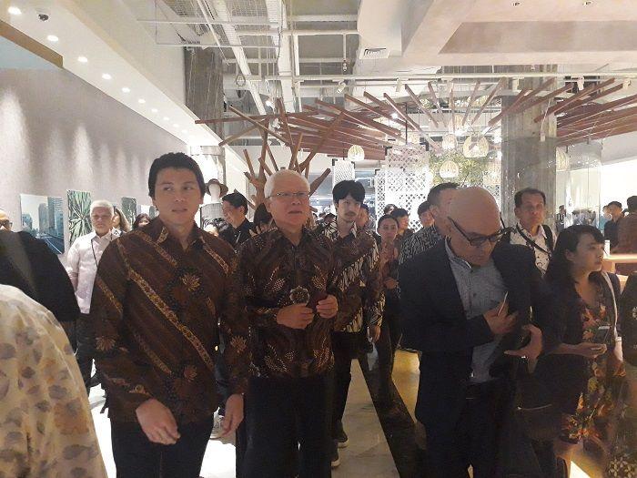 Reino Barack menghadiri peluncuran toko fashion baru bernama Lumine Jakarta di Plaza Indonesia. Jumat (7/12/2018).