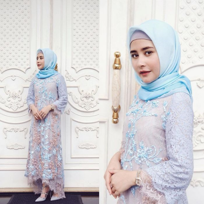 Prilly Latuconsina terlihat tampil cantik dengan fashion hijab lilit